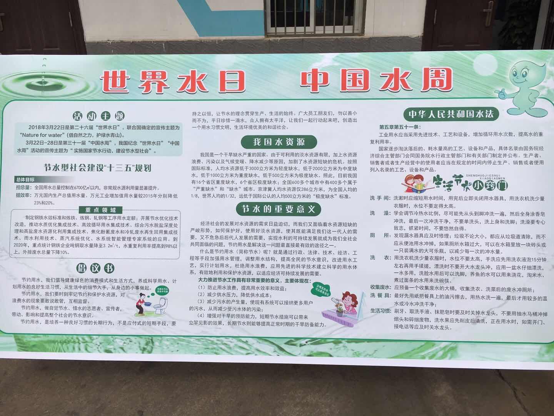 """【能源管理】公司积极开展""""世界水日""""""""中国水周""""系列活动"""