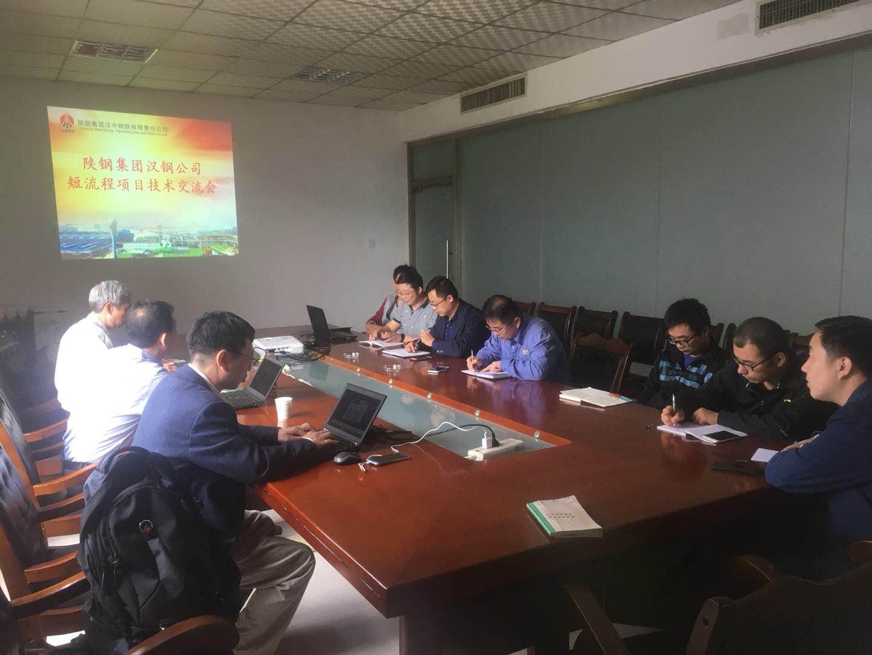 中冶京城工程技术有限公司专家教授来公司指导交流短流程冶炼项目技术